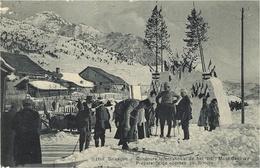1116- BRIANCON - Concours International De Ski - Mont-Genèvre - Préparatifs De Course - Photo Rivière - Briancon