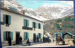 09 L'HOSPITALET  HOTEL SOULE AU DESSUS DES MONTAGNES DES VALLONS DU SISCA CALECHE ET ANIMATION - France