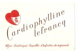 ---- BUVARD ----   CARDIOPHYLINE LEFRANCQ - TTB - Chemist's