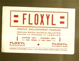 ---- BUVARD ----   FLOXYL Savon En Poudre Et Lessives Vellexon Et Arc Les Gray  TB - Produits Ménagers