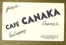 ---- BUVARD ----   CAFE  CANAKA - TTB - Café & Thé