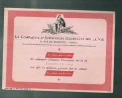 ---- BUVARD ----  Compagnie D'Assurances  Générales Sur La Vie Excellent étta - Food