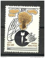INDIA, 1991, World Peace, Explosion And Dove, Designed By J Das,  MNH, (**) - Unused Stamps