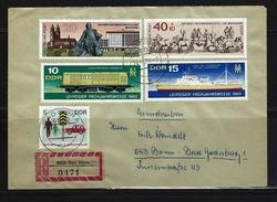 DDR - RECO-Beleg Mi-Nr. 1349 - 1350 + 1444 + 1513 - 1514 - [6] Democratic Republic