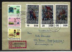 DDR - RECO-Beleg Mi-Nr. 1346 - 1348 + 1445 - 1447 - [6] Democratic Republic
