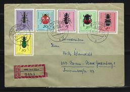 DDR - RECO-Beleg Mi-Nr. 1411 - 1416 Nützliche Käfer - [6] Democratic Republic