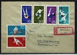 DDR - RECO-Beleg Mi-Nr. 1404 - 1409 Olympische Spiele Mexico City - [6] Democratic Republic