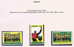Soccer Football Jamaica #906/8 1998 World Cup France MNH ** - World Cup
