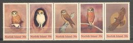Norfolk Island, Yvert 335/339, SG 338/342, Scott 343a/e, MNH - Norfolkinsel