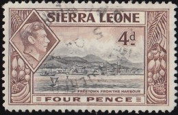 SIERRA LEONE - Scott #178 Freetown Harbor / Used Stamp - Sierra Leone (...-1960)