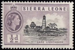 SIERRA LEONE - Scott #195 Cape Lighthouse (*) / Mint H Stamp - Leuchttürme