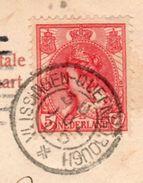 30 JUL 1905 Kleinrond VLISSINGEN-QUEENBOROUGH Op Ansicht Naar Londonderry Vermont USA - Poststempels/ Marcofilie
