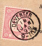 18 JAN 98 NVPH30 Op Mooi Zuiver Krantebandje Van Deventer Naar Oud Beijerland - Periode 1891-1948 (Wilhelmina)