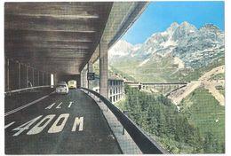 Valle D'Aosta - Traforo Del Gran S. Bernardo - Autostrada Coperta - Sullo Sfondo Il Valico - Classic Car - Italië