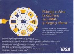 Visa Kaufland Shop Ticket Voucher For Clients Promotion - Tickets - Entradas