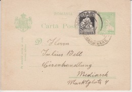 Romania Tarnava Mare Medias Used Cover Postmark Stamp Julius Bell 1928 - Cartas