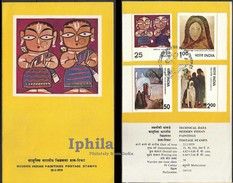 Modern Indian Paintngs 1978 Folder Tagore Jamini Roy Amrita Sher Gil Sailoz Painter Artist Art Painting Malerei Indien - Modern