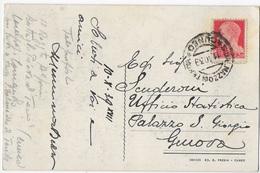 STORIA POSTALE REGNO- ANNULLO S.DALMAZZO TENDA (EX-ITALIA) 14.10.1939 SU CARTOLINA - 1900-44 Vittorio Emanuele III