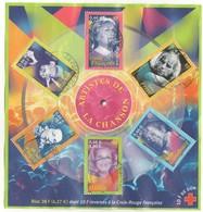 2001 - BF 37 - Artistes De La Chanson. (Oblitérés). - Blocs & Feuillets