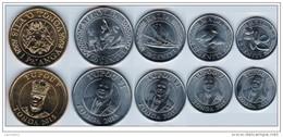 Tonga 2015. Complete Coin Set UNC - Tonga