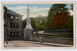 Soldiers Monument MAUCH CHUNK - United States