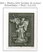 """PIA - AUST - 1974  : Esposizione """"La Famiglia Di Scultori Degli Schwanthaler""""  - San Michele Di Thomas Schw.   (Yv 1278) - Cristianismo"""