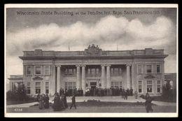 Wisconsin State Building Pan Pac Int Expo San Francisco  1915    -ref 2671 - Ausstellungen