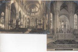 Carte Photo - Lot De 2 - Eglise De Lagny : Le Maitre Autel Et Vue Générale De L'intérieur - Lagny Sur Marne