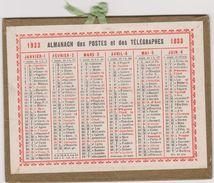 Calendrier 1933 Almanach Des Postes Et Des Telegraphes - Kalenders