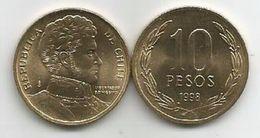 Chile 10 Pesos 1998. UNC KM#228.2 - Cile