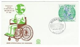 Monaco // FDC // 1981 // Année Internationale Des Handicapés - FDC