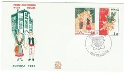 Monaco // FDC // 1981 // Europa 1981 - FDC