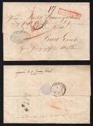 MULHOUSE - ALSACE - DEPARTEMENT LIMITROPHE/ 1846 PLI POUR BAD EMS VIA STRASBOURG (ref 7526) - Alsace-Lorraine