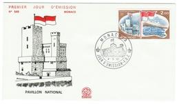 Monaco // FDC // 1981 // Pavillon National - FDC