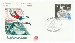 Monaco // FDC // 1981 // 25ème Anniversaire De La Coupe D'Europe De Football Des Clubs Champions - FDC