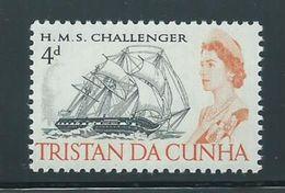 Tristan Da Cunha 1967 Later Issued 4d Ship Definitive MNH - Tristan Da Cunha