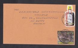 Trinidad & Tobago: Cover To UK, 2002, 2 Stamps, Bottle Shaped, Angostura Bitter, Food Flavour, Animal, Rare Real Use! - Trinidad En Tobago (1962-...)