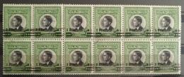J27 - Jordan 1963 SG 539 Blk/12 MNH King Hussein 21f SuNew Value, Overprint Variety - Jordanië