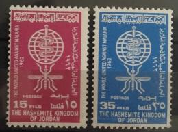 J27 - Jordan 1962 SG 507-508 Complete Set 2v. MNH - Malaria Eradication - Jordanie