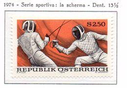 PIA - AUST - 1974  : Sport - Scherma -   (Yv 1285) - Scherma