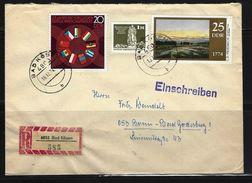 DDR - RECO-Beleg Mi-Nr. 1918 + 1960 + 1968 - [6] Democratic Republic