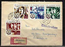 DDR - RECO-Beleg Mi-Nr. 1949 - 1952 - 25 Jahre DDR - [6] Democratic Republic