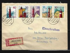 DDR - RECO-Beleg Mi-Nr. 1953 - 1957 Leuchttürme - [6] Democratic Republic