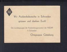 Karte Auslandsdeutsche In Schweden Ortsgruppe Göteborg NSDAP Landesgruppe - Sonstige
