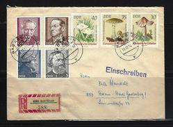 DDR - RECO-Beleg Mi-Nr. 1938 - 1940 + 1941 + 1942 + 1943 + 1945 Pilze + Persönlichkeiten - [6] Democratic Republic