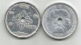 Laos 10 Cents 1952. VF  KM#4 - Laos