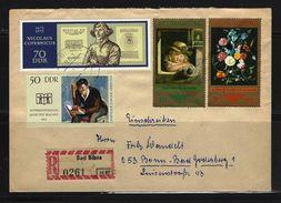 DDR - RECO-Beleg Mi-Nr. 1781 + 1828 + 1892 + 1897 - [6] Democratic Republic