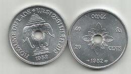 Laos 20 Cents 1952. KM#5 - Laos