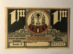 Allemagne Notgeld Butow 1 Mark - [ 3] 1918-1933 : République De Weimar
