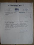 AMSTERDAM Brief 1957 AMSTEL BROUWERIJ - BRASSERIE AMSTEL - Pays-Bas